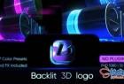 AE模板 现代霓虹灯3D背光标识LOGO朋克展示 Backlit 3D Logo