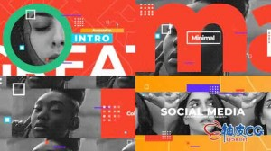 AE模板 社交媒体新闻纪录片报告预告片 Social Media Opener