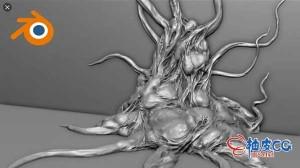 Blender游戏有机3D模型雕刻拓扑工作流程视频教程