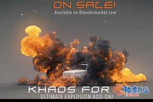 Blender终极爆炸粒子特效插件Khaos Ultimate Explosion 2.8