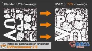 Blender高级UV贴图布局插件uvpackmaster2 for Blender 2.8 – 2.9