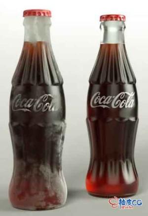 C4D创建可口可乐饮料瓶3D模型视频教程