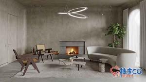 Cinema 4D & Corona制作逼真室内装饰效果图视频教程