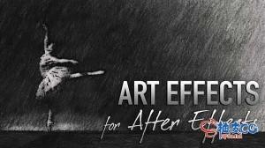 AE模板 50+图像动画视频4K素材创意艺术特效转换