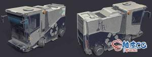 3DSMAX城市多功能服务车3D模型