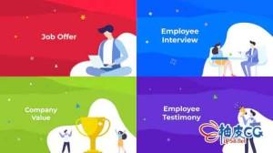 AE模板 公司企业人力资源职位和公司资源介绍 HR - Job & Company Resource
