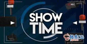 AE模板 社交网络电视脱口秀节目开场片头 Talk Show