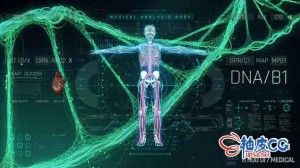 AE模板 科幻医学医疗HUD数字全息信息图UI界面动画 HUD Medical Pack