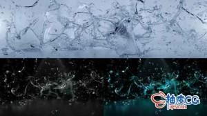 AE模板 3D液体水飞溅喷洒标识徽标展示 Splashing Water Logo Reveal