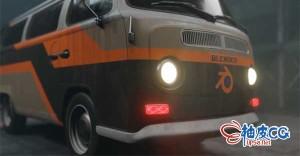 Blender创建汽车三维模型及效果图全流程视频教程
