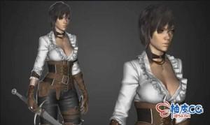 ZBrush雕刻女性角色3D模型全程视频教程