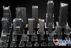 3DSMAX / FBX / OBJ城市街区摩天大楼3D模型