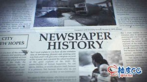 AE模板 历史写实感经典报刊新闻印刷元素特写 Newspaper History