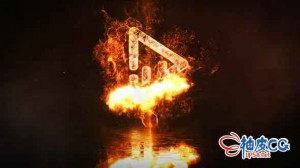 AE模板 史诗级电影黑暗分形火焰标识LOGO介绍视频 Fire Logo Reveal