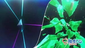 AE模板 太空星空金属质感3D标识LOGO展示视频 Space Metal Destruction Logo
