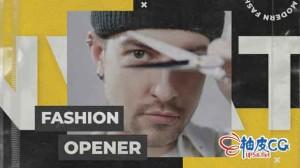 AE模板 现代时尚嘻哈动作演示标题排版视频 Modern Fashion Opener