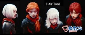Blender人物头发制作插件Hair Tool 2.27 for Blender 2.8x- 2.93