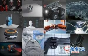 Blender建模材质照明相机渲染游戏动画视频插件合集