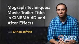 C4D & AE图形技术电影片头标题动画制作视频教程