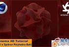 C4D & OC创建抽象多面球体视频教程