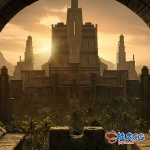3DSMAX / Blender / C4D / Houdini / Maya / Unity / Unreal美洲亚洲风格寺庙结构建筑3D模型