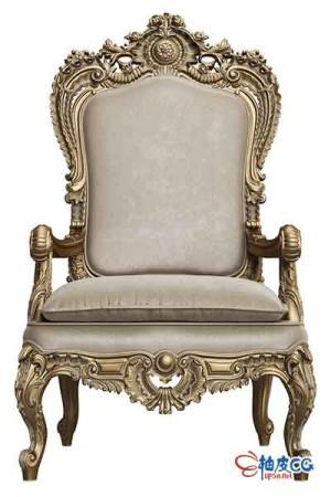 3DSMAX豪华椅子内饰王座扶手椅3D模型
