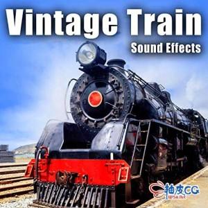 55个老式柴油蒸汽火车启动鸣笛减速排气行驶撞击flac音效素材