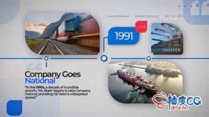AE模板 公司企业商业记录时间轴介绍 Business Company Timeline