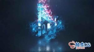 AE模板 史诗级优雅抽象标识分形颗粒堆砌视频 Logo Reveal