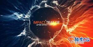 AE模板 太空空间辐射文本标题介绍电影片头预告 Videohive Impact Trailer Titles