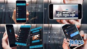AE模板 智能手机应用程序滑动演示介绍 Promo App