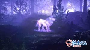 AE模板 森林魔法蓝色狼嚎叫标识展示 Spirit Wolf Logo