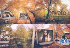 AE模板 浪漫回忆秋天树林行走照片展示 Autumn Slide