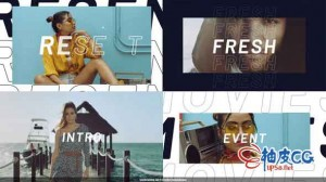 AE模板 美丽抽象节奏感视频博客宣传片头 Modern Fashion Opener