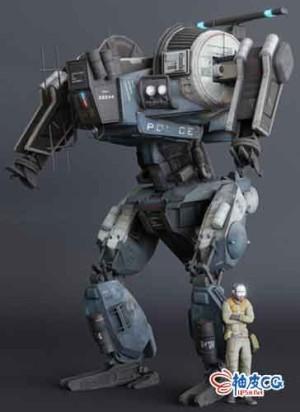 Blender警察机器人3D模型素材