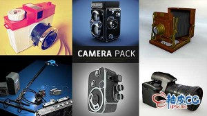 Cinema 4D经典老式照相机3D模型素材