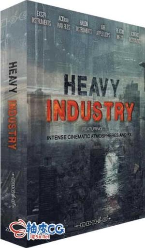 电影游戏悬念紧张黑暗环境氛围重工业音效素材