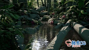 MAYA / ZBrush / Unreal Engine创建植物模型及游戏环境完整流程视频教程