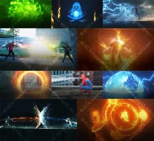 776组魔法球翅膀能量闪电粒子冲击波精灵飞舞4K高清视频素材