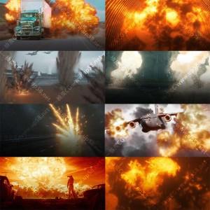 189组火焰浓烟爆炸合成特效mov透明背景4K高清视频素材
