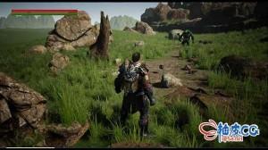 Unreal Engine 4 / UE4制作多人类魂RPG游戏动作视频教程