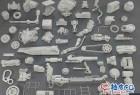 57个3DSMAX / FBX / OBJ机械零件3D模型