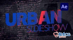 AE模板 城市动态时尚摇滚音乐风格标题排版 Urban Slideshow