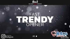 AE模板 现代节奏感促销介绍片头视频 Fast Trendy Opener