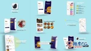 AE模板 美食外卖手机应用创意宣传推广 Food Delivery App Promo
