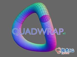 Blender三维模型重拓扑工具quadwrap v1.2