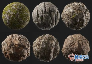 C4D / 3DSMAX / OC / Redshift / VRay真实岩石草地3D模型 + 4K / 8K / 16K高清贴图