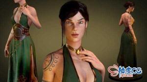 Zbrush / Maya / Substance Painter雕刻西方神话女性角色3D模型视频教程