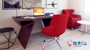 31个3DSMAX / Maya / C4D / VRay办公桌椅柜子高品质3D模型