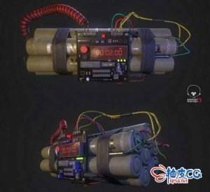 3DSMAX游戏风格炸弹3D模型